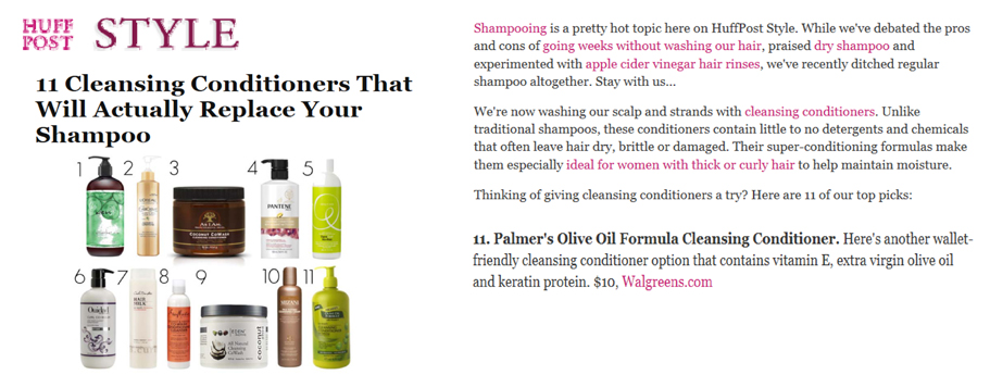 Featuring Palmer's Olive Oil Formula Co-Wash