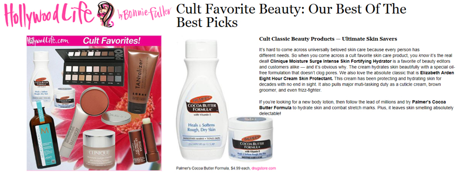 Featuring Palmer's Cocoa Butter Formula Lotion & Solid Formula