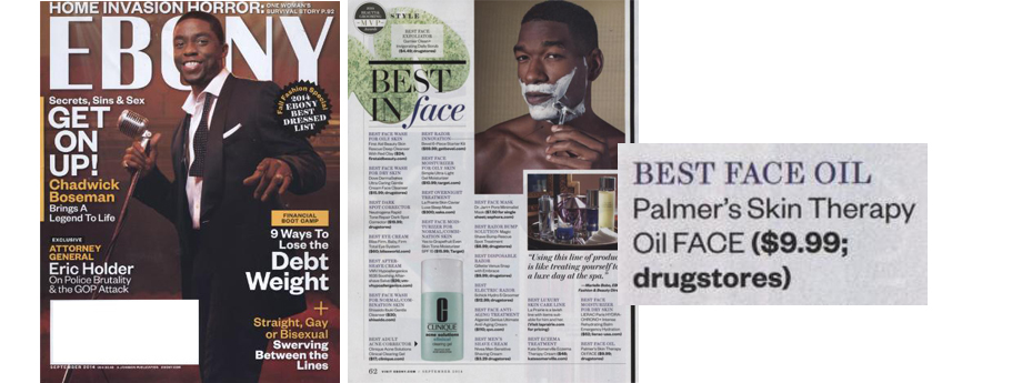 Palmer's Cocoa Butter Formula Skin Therapy Oil Face named Best Face Oil!