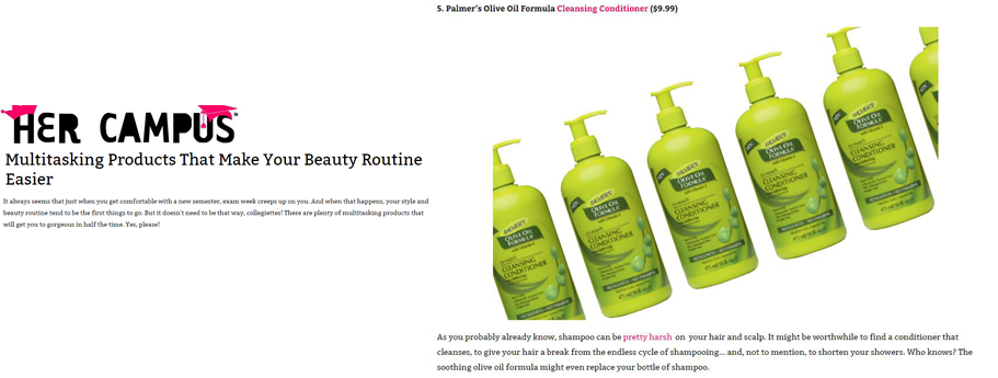 Featuring Palmer's Olive Oil Formula Co-Wash Cleansing Conditioner