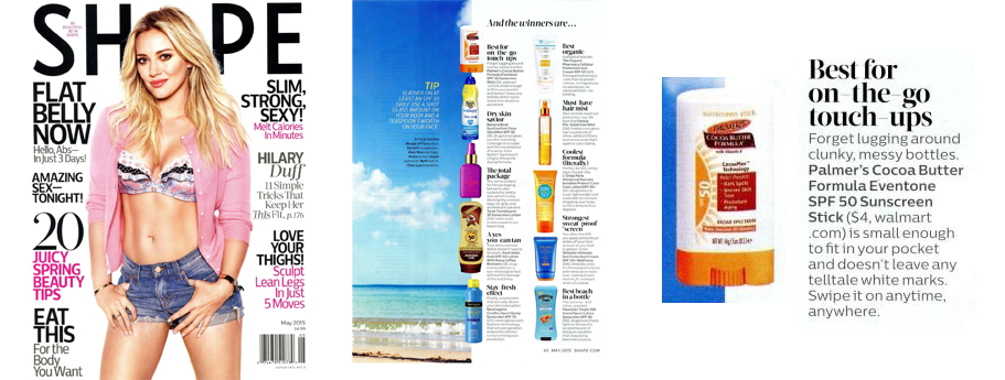 Palmer's Cocoa Butter Formula Eventone Suncare SPF 50 Sunscreen Stick Named Best for On-The-Go Touch-Ups!