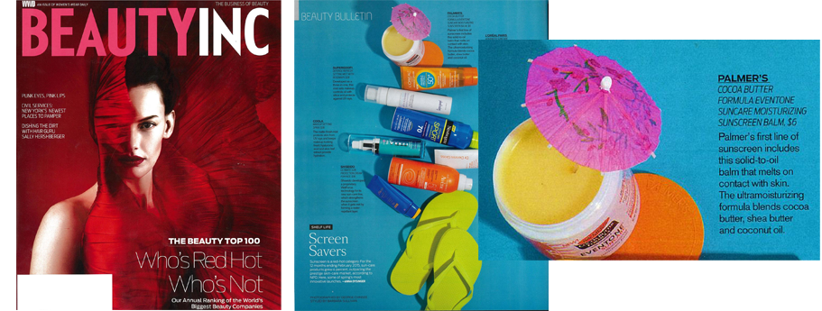 Palmer's Cocoa Butter Formula Eventone Suncare Moisturizing Sunscreen Balm Named One of WWD's Most Innovative New Sunscreens