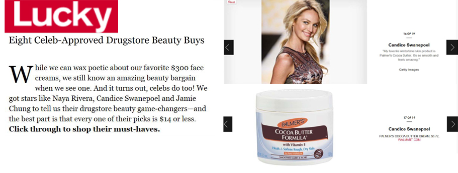 Featuring Palmer's Cocoa Butter Formula Solid Formula