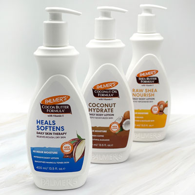 Palmer's Body Lotions for fall skincare on a table