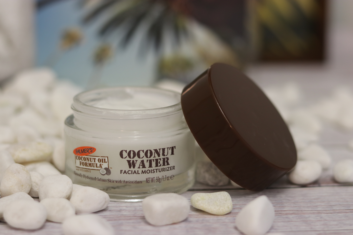 Palmer's Coconut Water Facial Moisturizer on table