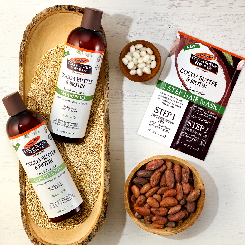 Palmer's Cocoa Butter Formula Cocoa Butter & Biotin Shampoo, Conditioner & Mask Products for Dry, Winter Hair